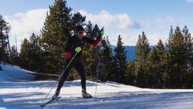 / Eneko Llanos haciendo esquí de fondo