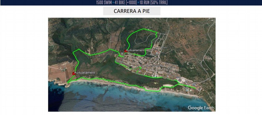 Segmento carrera a pie Triatlô Olímpic Son Bou