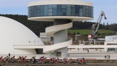 Segmento ciclista en Avilés