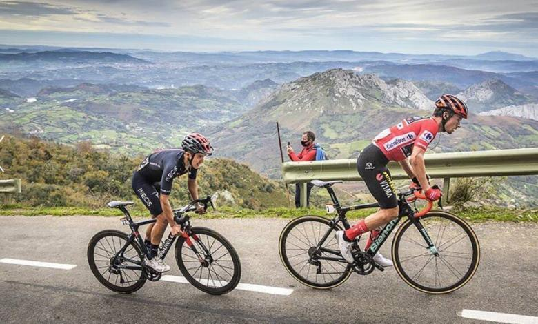 Ascent to Angliru in the Tour of Spain