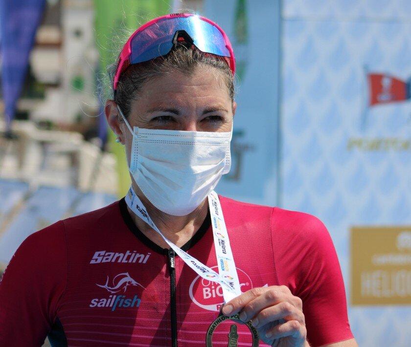Simone Kumhofer ganadora del Triathlon Portocolom 2021