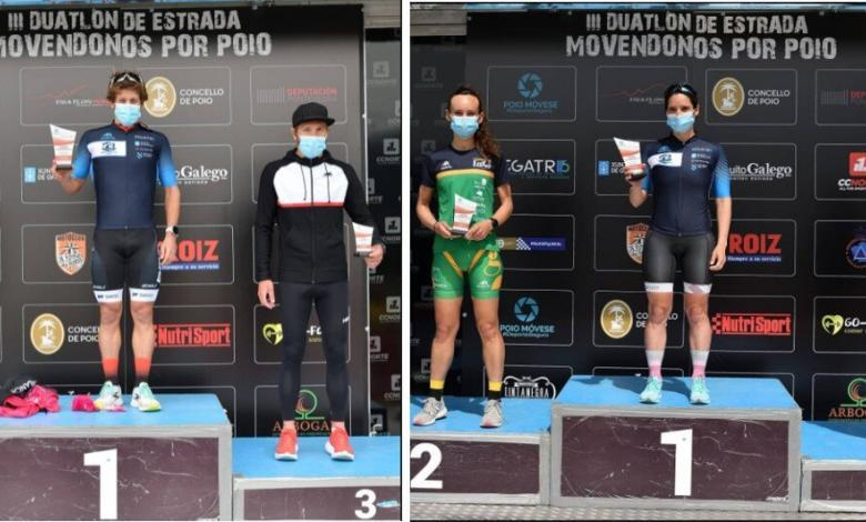 Pablo Dapena and Aida Valiño win the Poio Duathlon