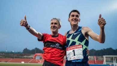 Dani Mateo y Martín Fiz baten el récord de la hora en pista
