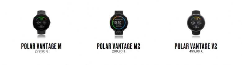 modelos Polar Vantage