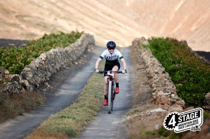 Anne-Dorthe Lisbygd la 4 Stage MTB Race Lanzarote 2021