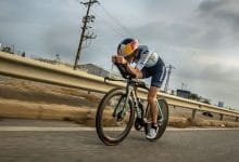 un triatleta en Challenge Salou